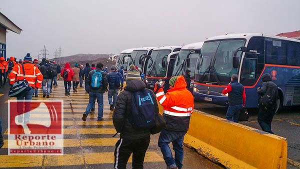 buses, link, contratistas, codelco, paro, Maitenes, colon